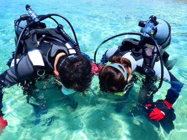 体験ダイビングの呼吸について